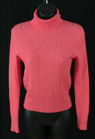 Mariele Waithe Petite S Womens Size PS Sweater 100% Cashmere Pink Cableknit