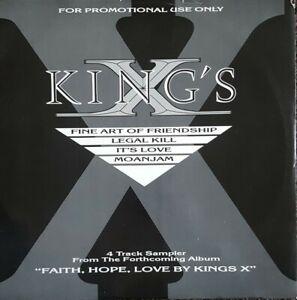 """Kings X 'Fine Art Of Friendship"""" LIMITED UK 4 TRACK SAMPLER 12"""" Vinyl"""