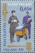 Finland 2006 MNH Shiny Silver Stamp - Postal and Logistics Union PAU - Postman