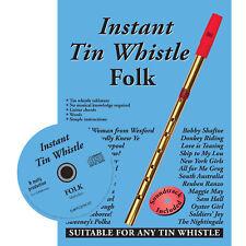 Instant Tin Whistle - Folk  Book & CD : Dave Mallinson