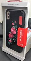 iphone X, XS Skinarma Irezumi Synthetic Leather with Embroidery Case Roses BNIB