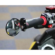 2x 7/8'' Universal Redondo Espejo Retrovisor Moto Motocicleta Bar End Mirror ES