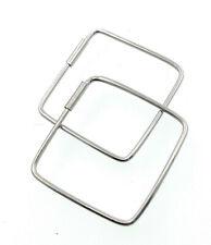 Große Creolen Raute Eckig aus 925 Silber Ohrringen Modern Loops Minimalistisch