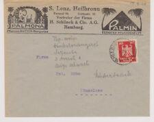 DEUTSCHES REICH, Mi. 357 EF, Heilbronn, WerbeU PALMONA (Elefant) + PALMIN