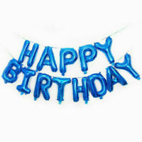 Happy Birthday Balloon Banner Bunting Self Inflating Letters Party Decoration