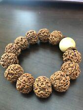 Five Faces/mukhi Nepal Rudraksha Bracelet 19×16mm 矮桩小肉球