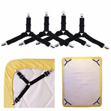 4x Triangle Mattress Suspender Straps Bed Mattress Holder Clips Gripper Fastener
