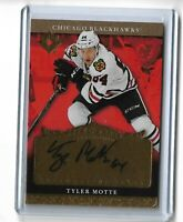 Tyler Motte Chicago Blackhawks 2016-17 Ultimate collection hockey Rookie auto