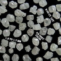 Natural Loose Rough Diamond Ice Grey Color 1.20 to 1.70 MM 2.00 Cts Lot N18