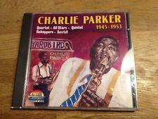 """CHARLIE PARKER """"1945-1953"""" AAD 1990 CD 25 TRACKS GIANTS OF JAZZ S.I.A.E. ITALY**"""