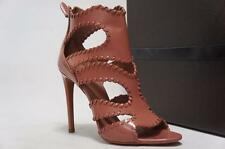 ALAIA  CUT-OUT GLOSSED-LEATHER STILETTO SANDALS SHOES 38/8 $1530