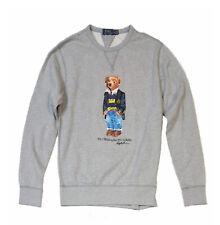 Ralph Lauren Grey Bear Logo Fleece Sweatshirt Size LARGE