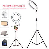 "4.7"" LED Ring Light USB White Light w/ Tripod Stick For Makeup Live vedio Camera"