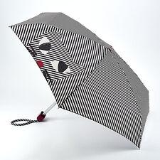 Lulu Guinness Tiny Paraguas Plegable 'Kooky Gato