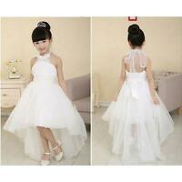 Flower Girl Princess Dress Kid Party Pageant Wedding Bridesmaid Tutu Dresses US