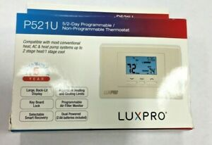 LuxPro P521U Programmable Heat Pump Thermostat