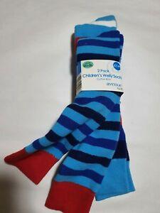Children's Welly Socks 2 pack Cotton Rich UK 12 1/12 - 3 1/2 New Blue