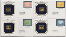 US 1912-13 Panama-Pacific 4 Covers 22k Gold Replica Stamps + Reproductions |