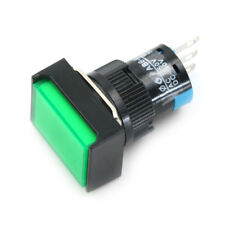 Momentary /Latching Push Button Switch Rectangular DC 12V/24V LED Light 5Pin JF