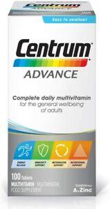 Centrum Advance Multivitamin & Mineral Tablets Essential Nutrients 100 Tabs