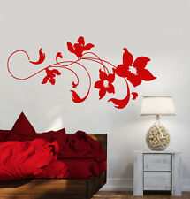 Vinyl Wall Decal Art Beautiful Flowers Bedroom Decoration Stickers (1288ig)