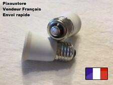 Lot de 2 adaptateurs douille E27 male  - E27 femelle pour ampoule culot 8-43