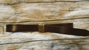 Quicksilver heavy leather mens belt brown