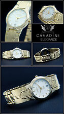 Luxury Designer Cavadini Unisex Watch with Box & Issues IP Gold Plated