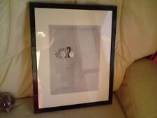 VINTAGE FRENCH PERFUME AD FRAMED,CIRO PERFUMES FRANCE, RARE, FREE-MAILING IN UK.