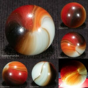 SWEET Master Made SUNBURST Vintage Marble 9/16+ Mint- hawkeyespicks bt