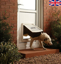 Large Dog Flap Extra Large XL 2 Way Door Gate Entrance Lockable Pet Wall Exit