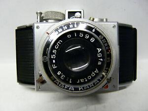 Kamera Agfa Karat  mit Objektiv Apotar 3,5/5,5cm