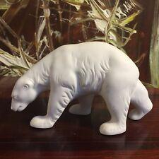 Porzellanmanufaktur REICHENBACH, Eisbär, weißes Biskuit Porzellan