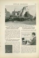 1923 Magazine Article St. Louis & San Francisco Railroad Wrecking Crane Railway