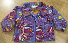 Columbia Full Zip Fleece Jacket Baby Toddler Size 12 Months Purple Multicolored