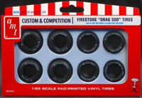 AMT Firestone Drag 500 Tire Set 1:25 scale tires for model cars new 22