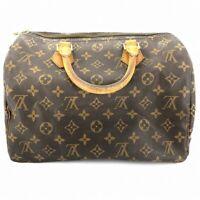 Louis Vuitton Speedy 30 M41526 Monogram Brown #CZ21-215