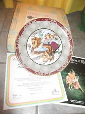 VILLEROY & BOCH Heinrich OVER THE RIVER AND  Once UPON RHYME Plate w COA &BOX