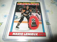 1991-92 O-Pee-Chee #523 Mario Lemieux, Conn Smythe Trophy pittsburgh penguins