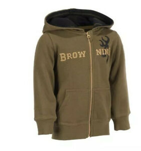 NEW Browning Toddler Buckmark Hoodie Youth  Sweater Size 5t  Brown NEW With Tags