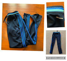 Ladies Blue Adidas Zip Leg Tracksuit Bottoms, Size XS UK 4-6, New Without Tags