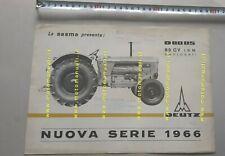 Deutz trattore D80 05 1966 depliant originale italiano brochure