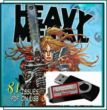 Heavy Metal Illustrated Magazine Comic Book - 81 Issues - Pdf On Usb - Vintage