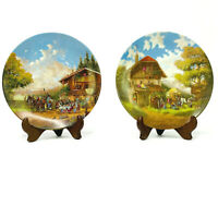 Seltmann Weiden Rest in the Inn and Front of the Forge Collector Plates Set of 2