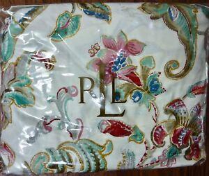 NWT Lauren Ralph Lauren Antigua Floral KING Bed Skirt Multicolor 100% Cotton