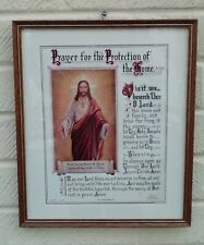 More details for prayer for the protection of the home vintage framed laverty jesus print