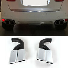 Exhaust Pipe Muffler End Tips For Porsche Cayenne V6 2011-2014 Stainless Steel