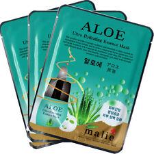 Aloe Essence Mask Sheet Facial Moisture Face Pack Skin Care Anti-Aging 3pcs