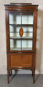 Edwardian Inlaid Mahogany Music  Display Cabinet