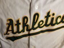 OAKLAND ATHLETICS JERSEY - SMALL - THROWBACK - MAJESTIC